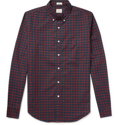 J.Crew Slim-Fit Button-Down Collar Checked Pima Cotton Oxford Shirt