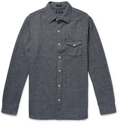 J.Crew Mélange Herringbone Cotton-Blend Shirt
