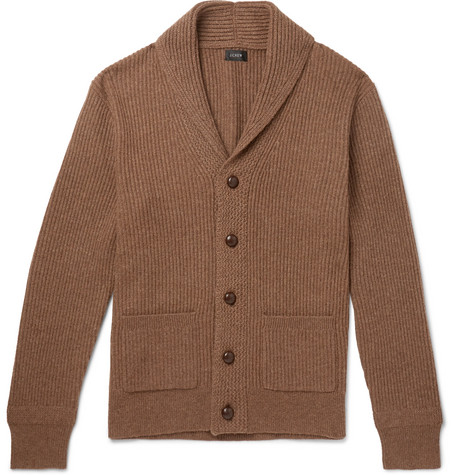 fc6b05257390 J.Crew - Slim-Fit Shawl-Collar Ribbed Merino Wool-Blend Cardigan