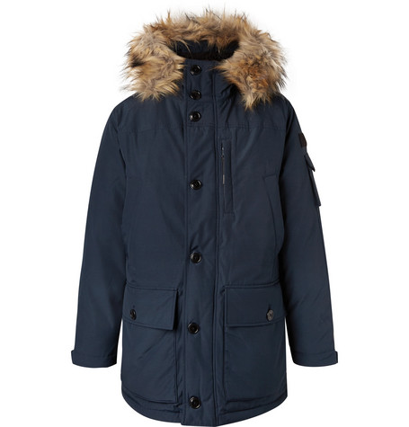 Nordic Faux Fur Trimmed Canvas Hooded Parka by J.Crew