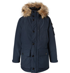 J.Crew Nordic Faux Fur-Trimmed Canvas Hooded Parka