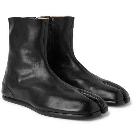 Tabi Leather Boots by Maison Margiela