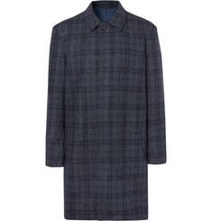Mr P. Checked Double-Faced Wool-Blend Coat