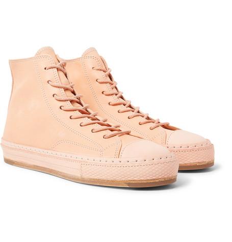 3ff80e293a5 Hender Scheme Mip-19 Leather High-Top Sneakers - Blush In Neutrals ...