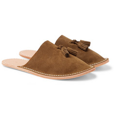 Hender Scheme - Tasselled Suede Backless Slippers