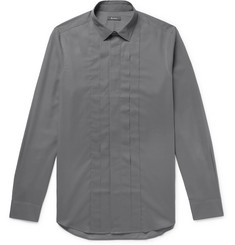 Berluti - Slim-Fit Pleated Cotton Shirt
