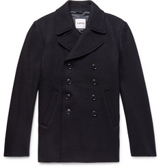 Aspesi - Double-Breasted Boiled Wool Peacoat