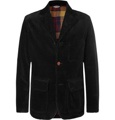Aspesi Black Cotton-Corduroy Blazer