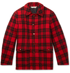 Aspesi - Checked Wool-Fleece Blouson Jacket