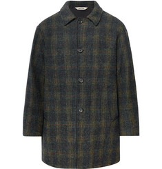 Aspesi Checked Harris Tweed Coat