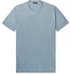 Berluti Cotton and Mulberry Silk-Blend T-Shirt