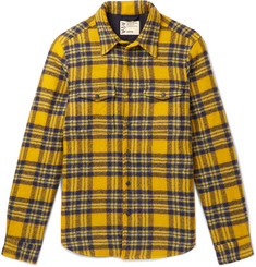 Aspesi Checked Virgin Wool Overshirt