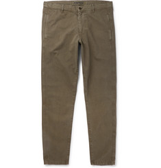 Aspesi Tapered Cotton-Twill Drawstring Trousers