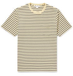 FRAME - Striped Cotton-Jersey T-Shirt