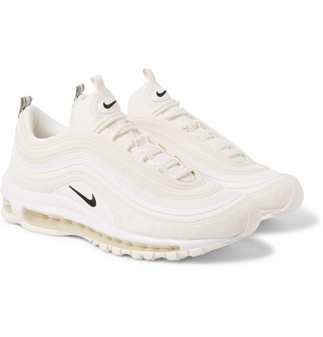 new arrive d7049 6b8d6 Nike Air Max 97 Future Tech Leather-Trimmed Ripstop Sneakers In White