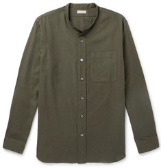 Margaret Howell - Grandad-Collar Cotton and Cashmere-Blend Shirt