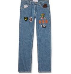 Loewe Slim-Fit Appliquéd Denim Jeans