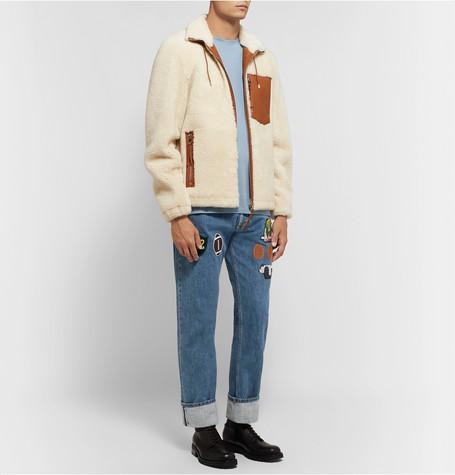 Slim Fit Appliquéd Denim Jeans by Loewe