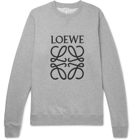 9e7ef5d645a Loewe - Logo-Embroidered Loopback Cotton-Jersey Sweatshirt