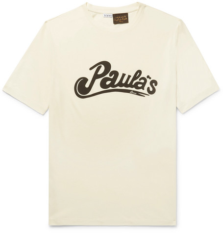 + Paulas Printed Cotton And Silk-blend Jersey T-shirt Loewe Buy Cheap Amazon A08AQWm