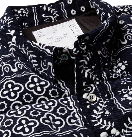 Quilted Printed Cotton Corduroy Shirt by Sacai