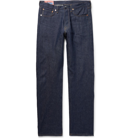 Acne Studios Relaxed Fit 1996 Rigid Jeans In Dark Denim