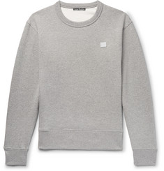 Acne Studios Fairview Face Mélange Fleece-Back Cotton-Jersey Sweatshirt