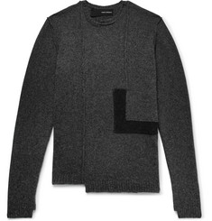 Isabel Benenato Panelled Knitted Sweater