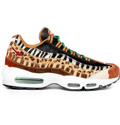 Nike + atmos Air Max 95 DLX Panelled Calf Hair Sneakers