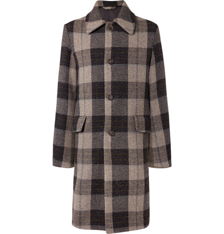 Oversized Checked Wool Coat