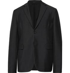 아크네 스튜디오 Acne Studios Black Antibes Unstructured Wool and Mohair-Blend Blazer,Black