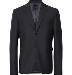 아크네 스튜디오 Acne Studios Midnight-Blue Brobyn Wool and Mohair-Blend Suit Jacket,Midnight blue