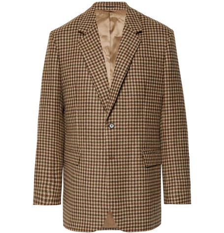 brown-checked-wool-blazer by acne-studios