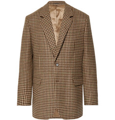 Acne Studios Brown Checked Wool Blazer