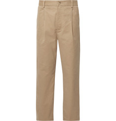 Acne Studios Pleated Brushed Cotton-Twill Chinos