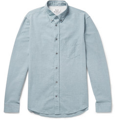 Acne Studios Isherwood Slim-Fit Button-Down Collar Cotton-Chambray Shirt
