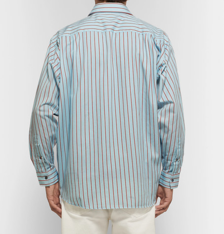 Oversized Striped Cotton Twill Shirt by Acne Studios