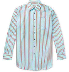 Acne Studios Oversized Striped Cotton-Twill Shirt