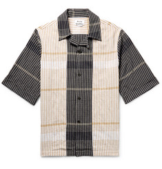 Acne Studios Camp-Collar Checked Cotton-Blend Shirt