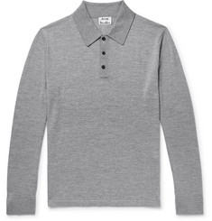 Acne Studios - Slim-Fit Mélange Merino Wool Polo Shirt