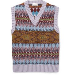 Acne Studios Slim-Fit Fair Isle Knitted Sweater Vest