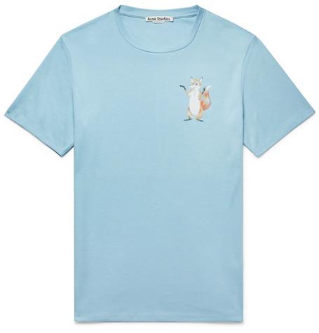 ACNE STUDIOS Printed Cotton-Jersey T-Shirt