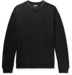 Acne Studios Flogho Logo-Print Fleece-Back Cotton-Jersey Sweatshirt