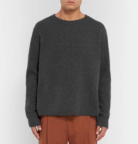 Nicholas Wool Ribbed Mélange Sweater Studios Acne qvOTT