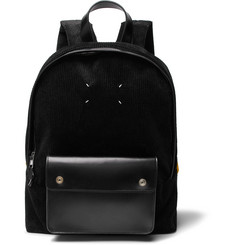 Maison Margiela Leather-Trimmed Corduroy Backpack