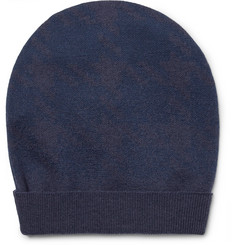 Boglioli Two-Tone Virgin Wool Beanie