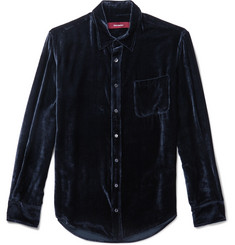 Sies Marjan - Sander Silk and Cotton-Blend Velvet-Corduroy Shirt