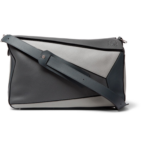 Puzzle Xl Full Grain Leather Messenger Bag by Loewe