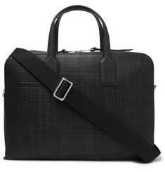 Loewe Goya Cross-Grain Leather Briefcase