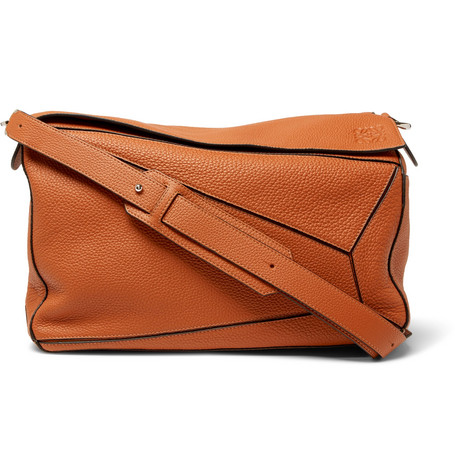 Puzzle Full Grain Leather Messenger Bag by Loewe